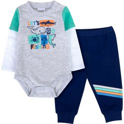 Sunshine Baby Baby Boys Let's Go Fishing Jogger Pants Set