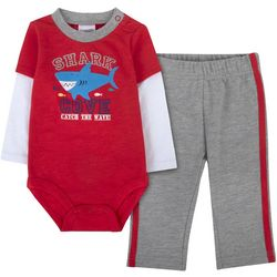 Sunshine Baby Baby Boys Shark Cove Long Sleeve Pants Set