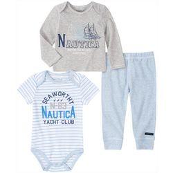 Nautica Baby Boys 3-pc. Seaworthy Layette Set