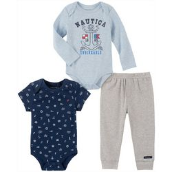 Nautica Baby Boys 3-pc. Unsinkable Clothing  Set