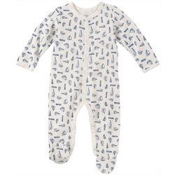 Nautica Baby Boys Sailboat Snug Fit Footie Pajamas