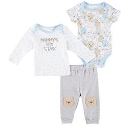 Little Beginnings Baby Boys 3-pc. Mommy's Star Layette Set