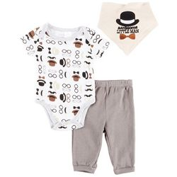 Little Beginnings Baby Boys 3-pc. Handsome Man Layette Set