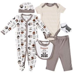 Little Beginnings Baby Boys 6-pc. Dapper Dude Layette Set