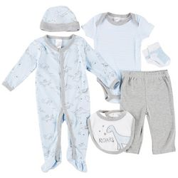 Little Beginnings Baby Boys 6-pc. Dinosaur Layette Set
