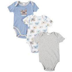 Little Beginnings Baby Boys 3-pk. Awesome Pup Bodysuits