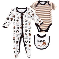 Little Beginnings Baby Boys 3-pc. Little Man Layette Set