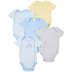 Laura Ashley Baby Boys 5-pk. Sailboat & Stripe Bodysuits