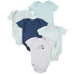 Laura Ashley Baby Boys 5-pk. Turtle & Snail Bodysuits