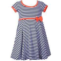 Bonnie Jean Toddler Girls Stripe Print Dress