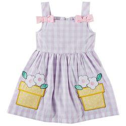Samara Toddler Girls Gingham Planter Dress
