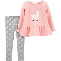 Carters Baby Girls Llama Love Leggings Set