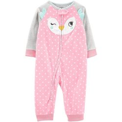 Carters Baby Girls Polka Dot Owl Face Jumpsuit