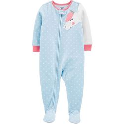 Carters Baby Girls Unicorn Dots Snug Fit Footie Pajamas