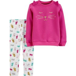 Carters Baby Girls 2-pc. Cats Sweater & Leggings Set