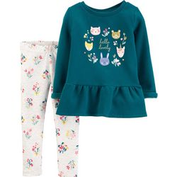 Carters Baby Girls Hello Lovely Floral Leggings Set