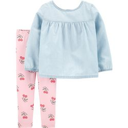 Carters Baby Girls I'm Cherry Sweet Leggings Set