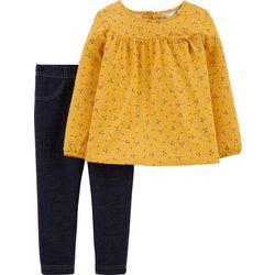 Carters Baby Girls Floral Print Bow Jeggings Set