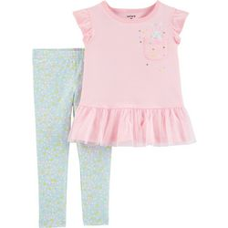 Carters Baby Girls Bunny Peplum Top & Leggings