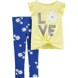 Carters Baby Girls Love Daisy Leggings Set