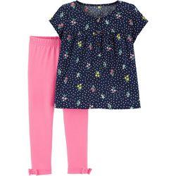 Carters Baby Girls Floral Print Leggings Set
