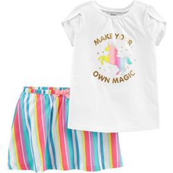 Carters Baby Girls Make Your Magic Stripe Skort Set