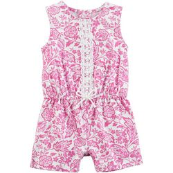 Carters Baby Girls Floral Lace Romper