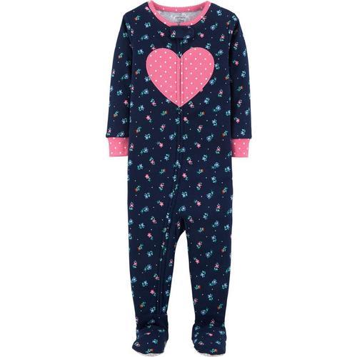 210f3ef70 Carters Baby Girls Floral Heart Sleep   Play