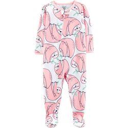 Carters Baby Girls Sloth Snug Fit Footie Pajamas