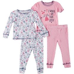 Girls Club Baby Girls 4-pc. Bunny Pajama Pants Set