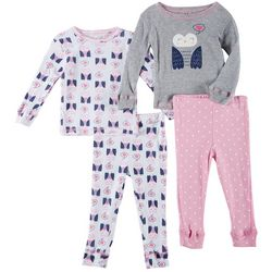 Girls Club Baby Girls 4-pc. Owl Pajama Pants Set