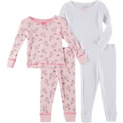 Rene Rofe Baby Girls 4-pc. Unicorn Long Sleeve Sleepwear Set