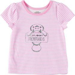 Chubby Mermaids Baby Girls Striped T-Shirt
