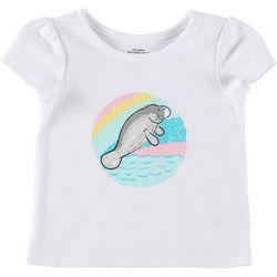 Chubby Mermaids Baby Girls Solid Manatee T-Shirt