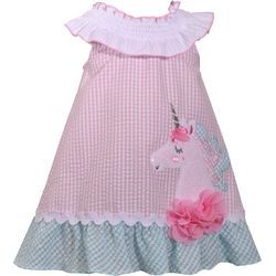 Bonnie Jean Baby Girls Unicorn Seersucker Dress