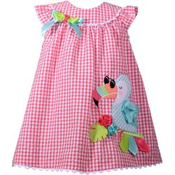 Bonnie Jean Baby Girls Plaid Toucan Seersucker Dress