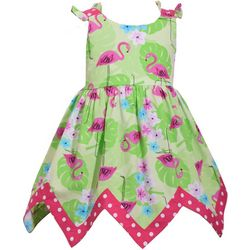 Bonnie Jean Baby Girls Flamingo Fit and Flare Dress