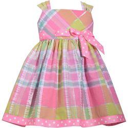 Bonnie Jean Baby Girls Sleeveless Plaid Dress