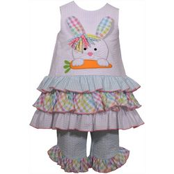Bonnie Jean Baby Girls Ruffled Bunny Seersucker Set