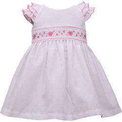 Bonnie Jean Baby Girls Floral Smocked Dress