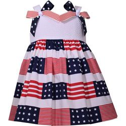 Bonnie Jean Baby Girls Americana Stars & Stripes Dress