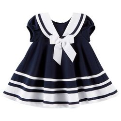 Bonnie Jean Baby Girls Striped Nautical Dress