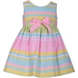Bonnie Jean Baby Girls Striped Dress