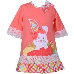 Bonnie Jean Baby Girls Plaid Bunny Easter Dress