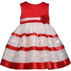 Bonnie Jean Baby Girls Christmas Ribbon Dress