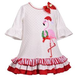 Bonnie Jean Baby Girls Holiday Flamingo Dress