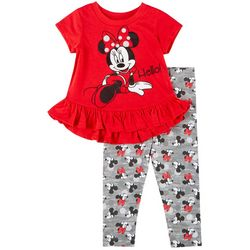 Disney Baby Girls Hello Minnie Mouse Leggings Set
