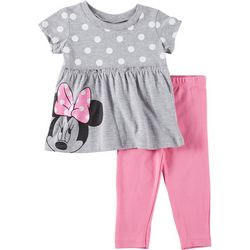 Disney Minnie Mouse Baby Girls Dot Top Leggings Set