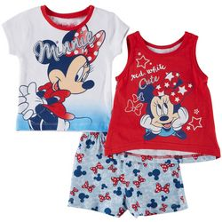 Disney Minnie Mouse 3-pc. Red, White & Cute Short Set