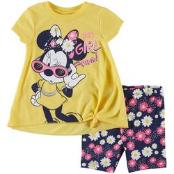 Disney Minnie Mouse Baby Girls This Girl Can Shorts Set
